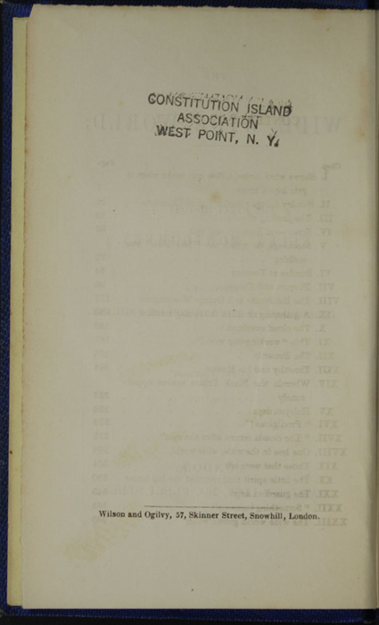 Verso of Front Flyleaf of Volume 2 of the 1852 Sampson Low Reprint<br /><br />