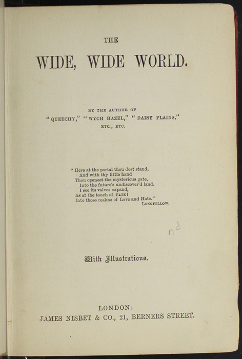 Title Page to the [1891] James Nisbet & Co. Reprint
