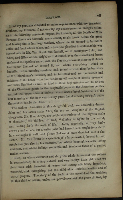 Page vii of the Preface to the [1853] Clarke, Beeton, & Co. Reprint, Version 1