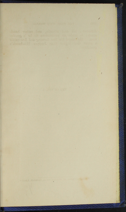 Recto of Back Flyleaf of Volume 1 of the 1852 Sampson Low Reprint
