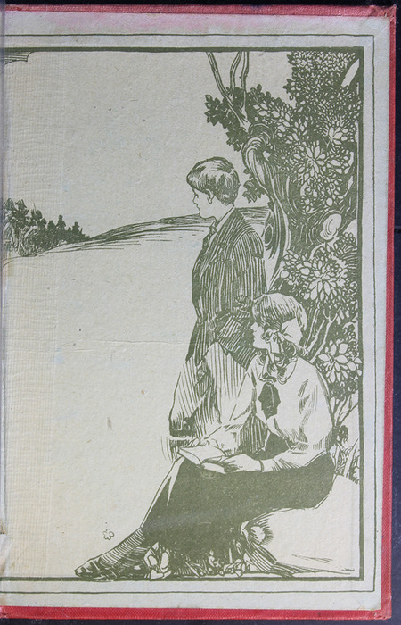 "Back Pastedown with Illustration of the [1918] Humphrey Milford/Oxford University Press ""Herbert Strang's Library"" Reprint"