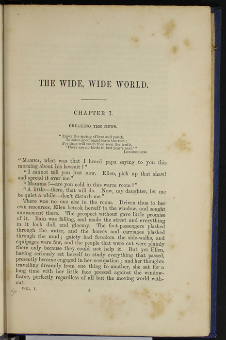 "First Page of Text in Volume 1 of the 1852 James Nisbet, Sampson Low, Hamilton, Adams & Co. ""Second Edition"" Reprint"