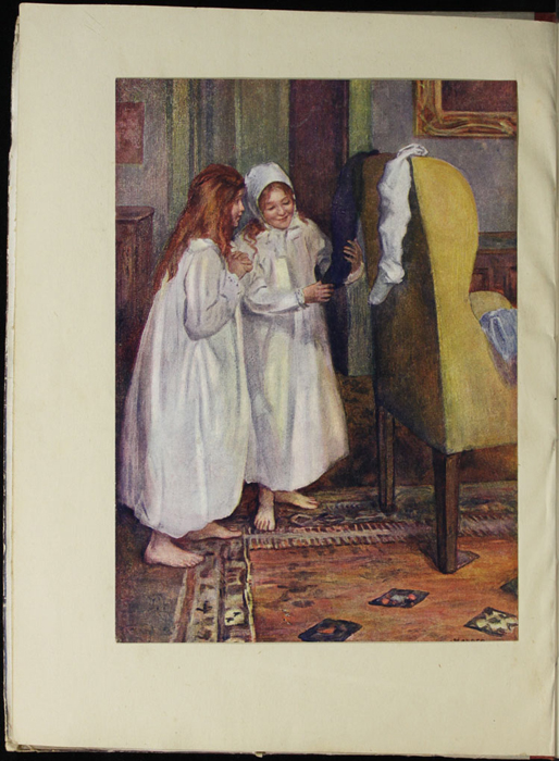 Full-Color Frontispiece to the [1918] Thomas Nelson & Sons, Ltd. Abridged Reprint Depicting Ellen and Ellen Chauncey on Christmas Morning
