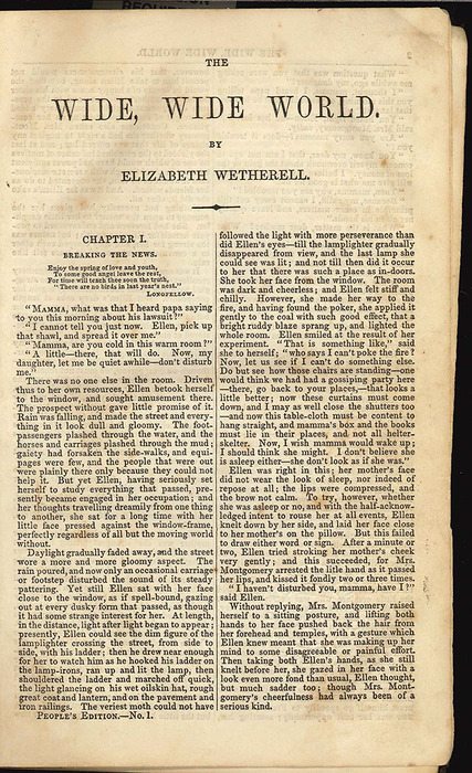 "First Page of Text in the 1853 Farrington ""People's ed."" Reprint"