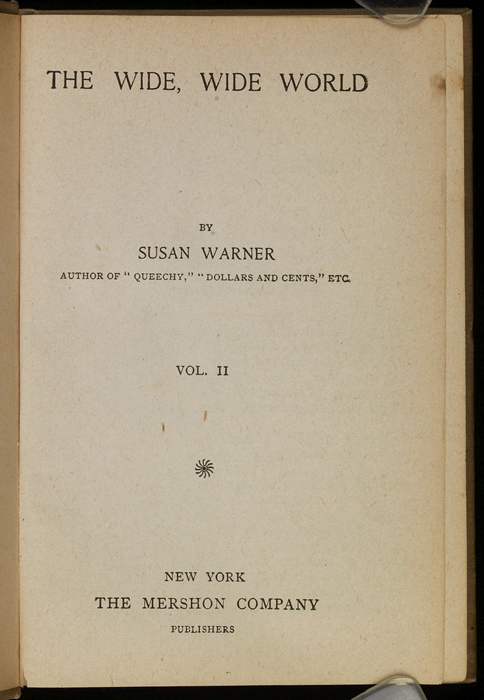 Title Page to Volume 2 of the [1903] Mershon Co. Reprint
