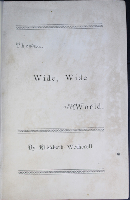 Half-Title Page to the [1887] W. Nicholson & Sons Reprint, Version 2