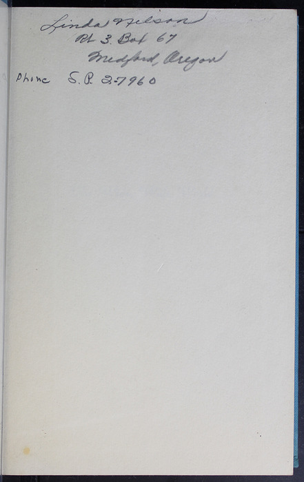 Recto of Front Flyleaf of the 1955 WM. B. Eerdmans Publishing Co. Reprint