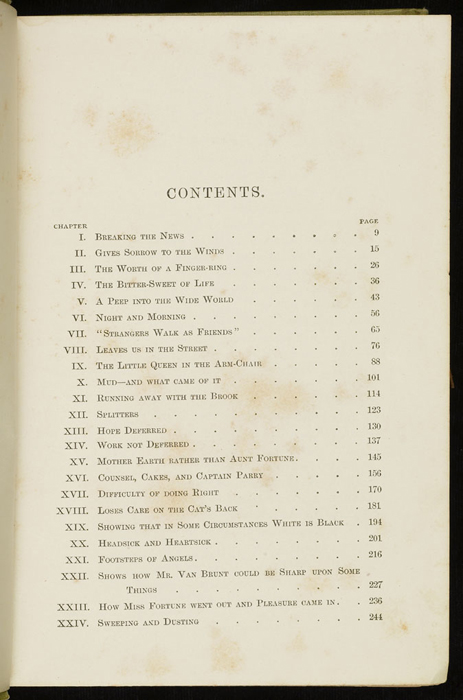 Table of Contents of the 1896 Hodder & Stoughton Reprint, Version 1