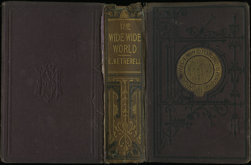 """Full Cover of the [1867] Milner & Sowerby """"Wide, Wide World Library"""" Reprint"""
