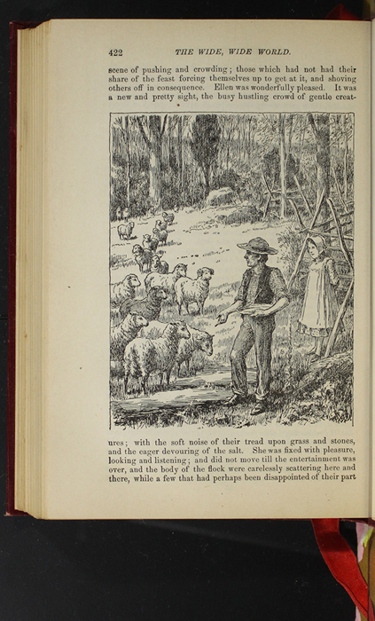 """Illustration on Page 422 of the 1903 J. B. Lippincott Co. """"New Edition"""" Reprint Depicting Mr. Van Brunt Tending His Flock"""