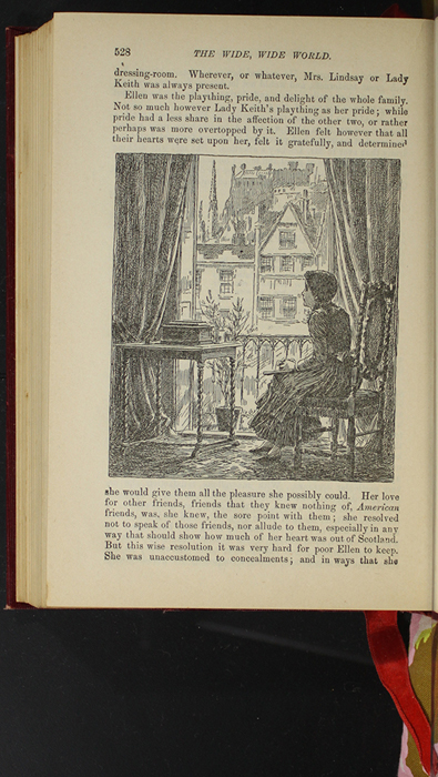 """Illustration on Page 528 of the 1903 J.B. Lippincott Co. """"New Edition"""" Reprint Depicting Ellen Missing those at Home While in Scotland"""