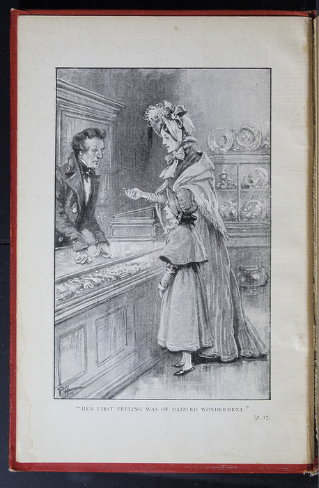 "Frontispiece to the [1896] S. W. Partridge & Co. ""Marigold Series"" Reprint Depicting Ellen and Mamma Selling Mamma's Ring"