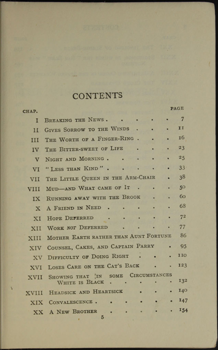Page 1 of the Table of Contents of the [1926] Ward, Lock, & Co., Ltd., Reprint