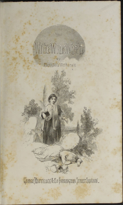 Title Page Vignette of the 1853 G. Routledge & Co. Reprint Depicting Alice Finding Ellen on the Cat's Back