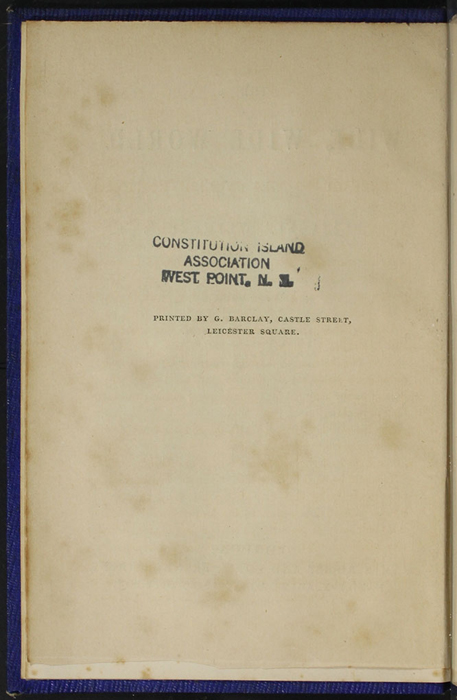 """Verso of Title Page to Volume 1 of the 1853 James Nisbet, Hamilton, Adams & Co. """"New Edition"""" Reprint"""