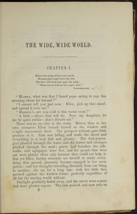 First Page of Text of Volume 1 of the 1851 George P. Putnam First Edition, Version 3