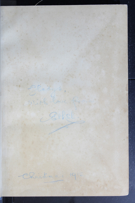 Recto of Front Flyleaf with Inscription of the [1908] George Routledge & Sons, Limited Reprint