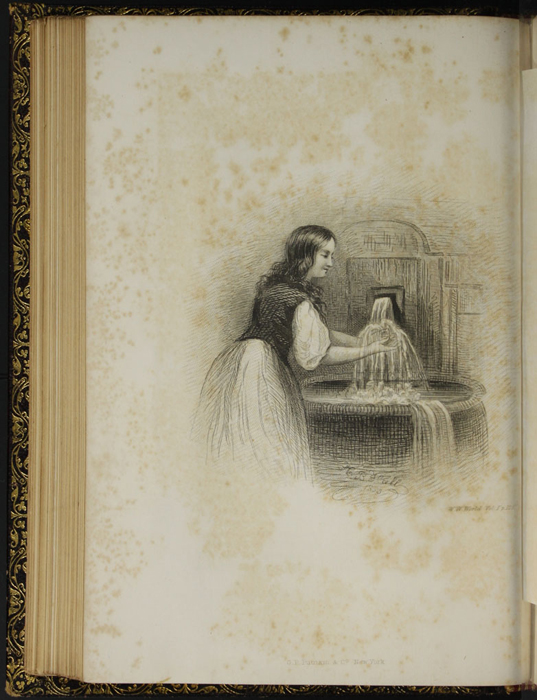 "Illustration on Page 126c of Volume 1 of the 1853 G.P. Putnam & Co. ""Illustrated Edition"" Reprint Depicting Ellen at the Spout"