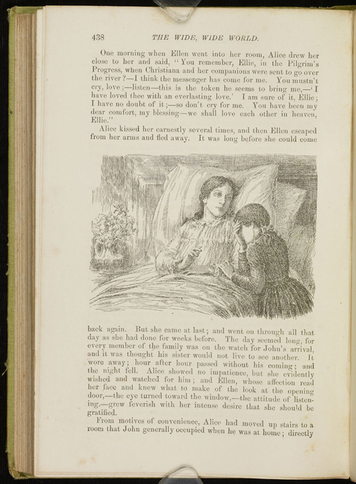 Illustration on Page 438 of the 1896 Hodder and Stoughton Reprint Depicting Ellen Crying Over Alice&#039;s Deathbed<br /><br />