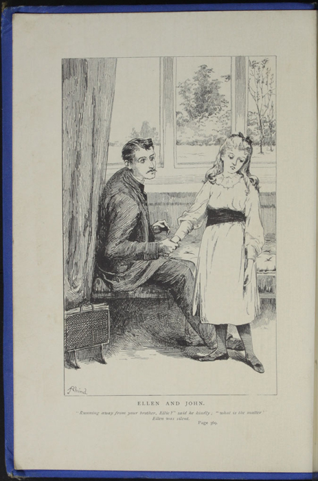 Frontispiece to the 1893 T. Nelson & Sons Reprint Depicting Ellen and John at the Marshman's