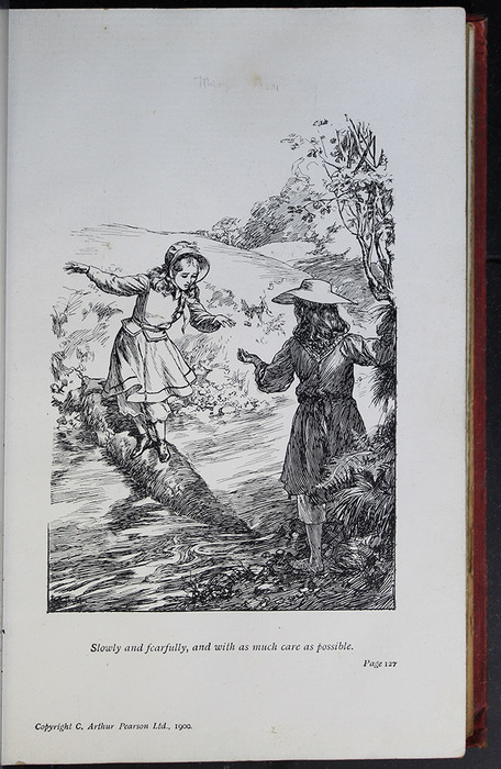 Illustration on Page 126a of the [1908] Seeley & Co. Ltd. Reprint Depicting Ellen and Nancy at the Brook
