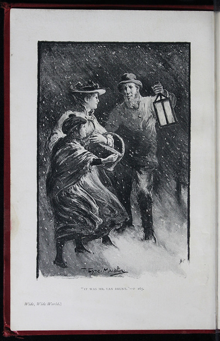 "Frontispiece to the [1903] W.P. Nimmo, Hay & Mitchell ""Complete Edition"" Reprint Depicting Mr. Van Brunt Finding Ellen and Alice in the Snow Storm"