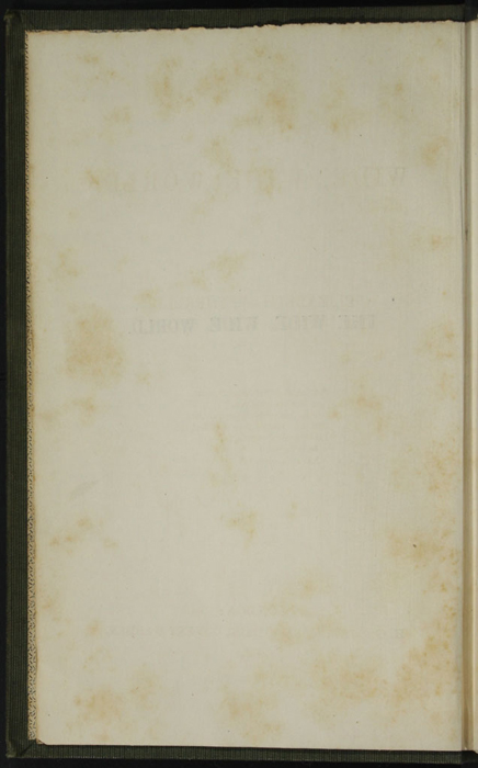 "Verso of Title Page to the 1853 H. G. Bohn ""Standard Library"" Reprint"