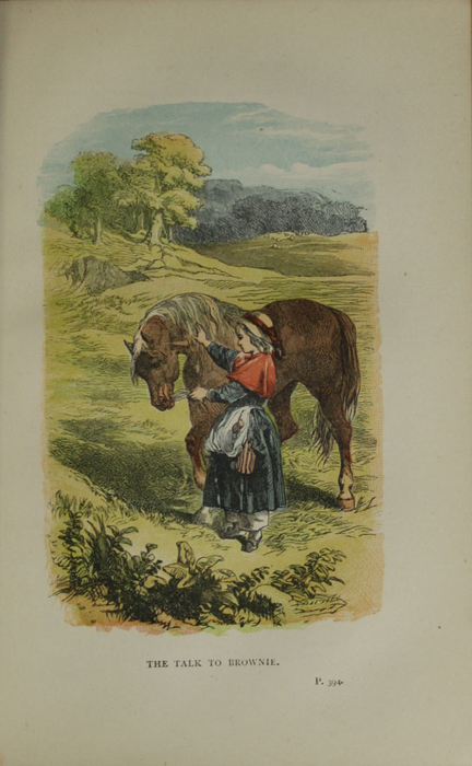 """Illustration on Page 394a of the 1887 James Nisbet & Co. """"Golden Ladder Series, New Edition"""" Reprint Depicting Ellen and The Brownie"""
