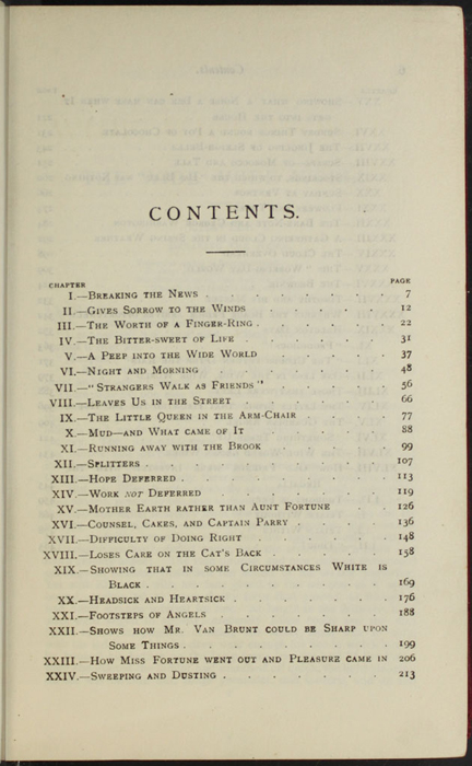 """First Page of the Table of Contents for the [1902] Ward, Lock, & Co., Ltd. """"Complete Edition"""" Reprint"""