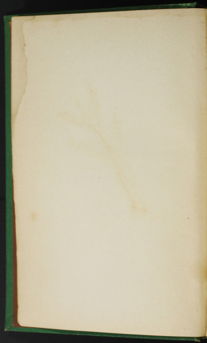 """Verso of Second Front Flyleaf of the 1880 J. B. Lippincott & Co. """"New Edition"""" Reprint"""