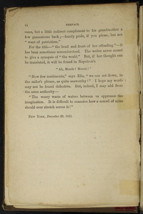 """Page vi of the Preface to [1891] James Nisbet & Co. """"New ed."""" Reprint"""
