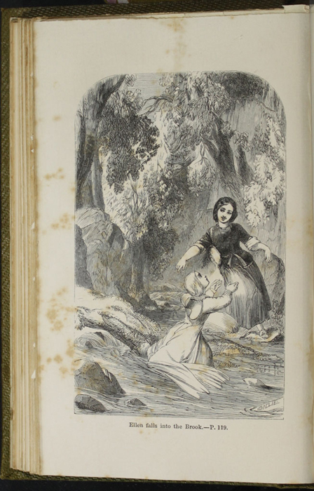 Illustration on Page 118b of the 1853 G. Routledge & Co. Reprint Depicting Ellen and Nancy at the Brook