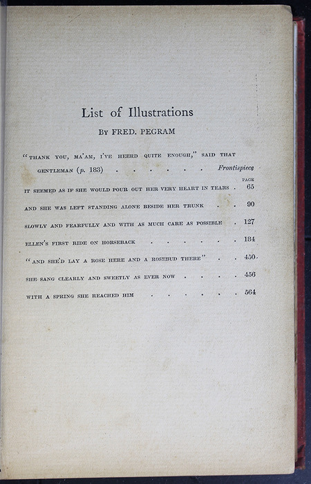 List of Illustrations for the [1908] Seeley & Co. Ltd. Reprint