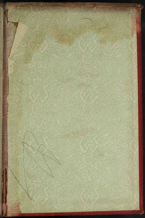 "Front Pastedown of [1890] Frederick Warne & Co. ""Star Series"" Reprint, Version 2"