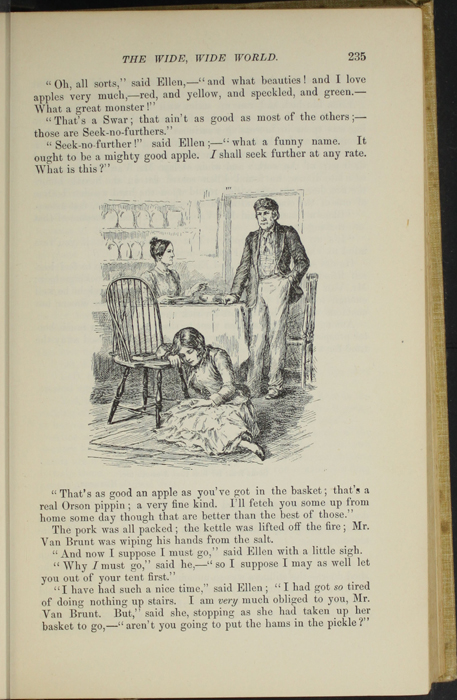 "Illustration on Page 235 of the 1892 J. B. Lippincott Co. ""New Edition"" Reprint Depicting Mr. Van Brunt, Ellen, and Aunt Fortune in the Kitchen"