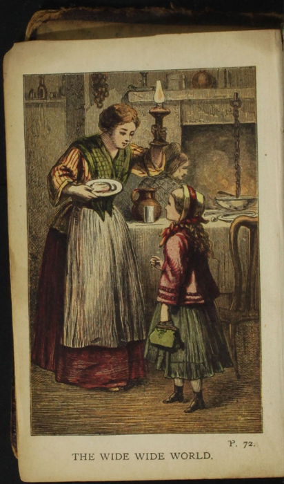 Frontispiece to the [1874] William Nicholson & Sons, S.D. Ewins & Co. Reprint Depicting Ellen Arriving at Alice's While She is Making Cakes