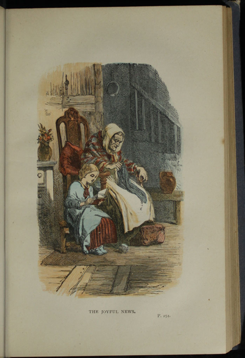 "Illustration of on Page 254a of the 1887 James Nisbet & Co. ""Golden Ladder Series, New Edition"" Reprint Depicting Ellen Reading to Grandma"