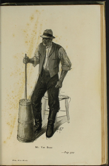 Illustration on Page 502a of the [1910] R.F. Fenno & Co. Reprint Depicting Mr. Van Brunt Churning Butter