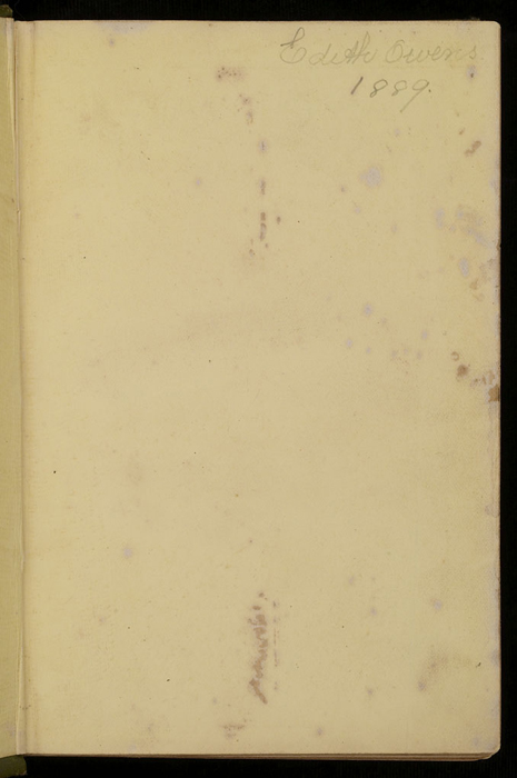 """Recto of Front Flyleaf of the [1885] Ward, Lock & Co. """"Home Treasure Library Complete ed."""" Reprint, Version 1"""