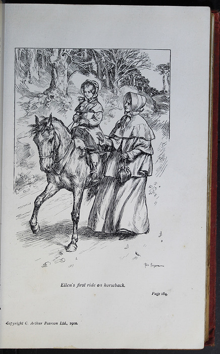 Illustration on Page 184a of the [1908] Seeley & Co. Ltd. Reprint Depicting Ellen Riding Sharp
