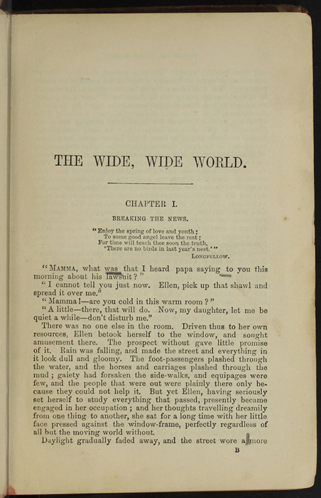 """First Page of Text in [1890] Frederick Warne & Co. """"Star Series"""" Reprint, Version 2"""