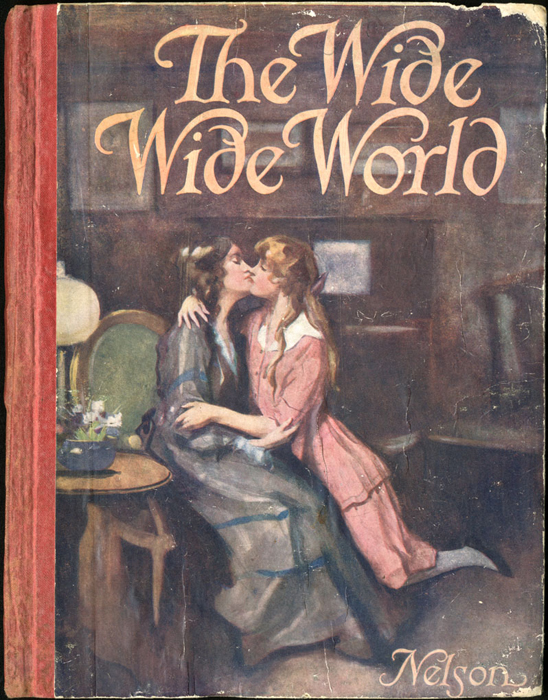 Front Cover of the [1918] Thomas Nelson & Sons, Ltd. Abridged Reprint Depicting a Kiss and Embrace Between Ellen and Alice