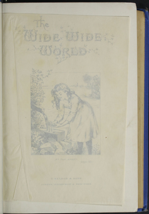Recto of Tissue Proceeding Title Page Vignette to the 1893 T. Nelson & Sons Reprint Depicting Ellen at the Spout