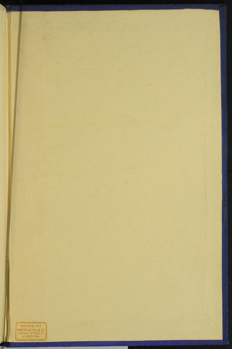 "Back Pastedown of Volume 1 of the 1852 James Nisbet, Sampson Low, Hamilton, Adams & Co. ""Second Edition"" Reprint"