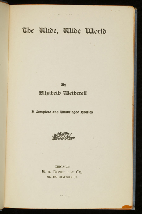 "Title Page to the [1902] M. A. Donohue & Co. ""Snug Corner Series"" Reprint"