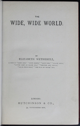 Title Page of the 1904 Hutchinson and Co. Reprint