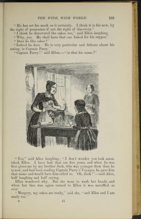 "Illustration on Page 168 of the 1892 J. B. Lippincott Co. ""New Edition"" Reprint Depicting Alice and Ellen Making Cakes"