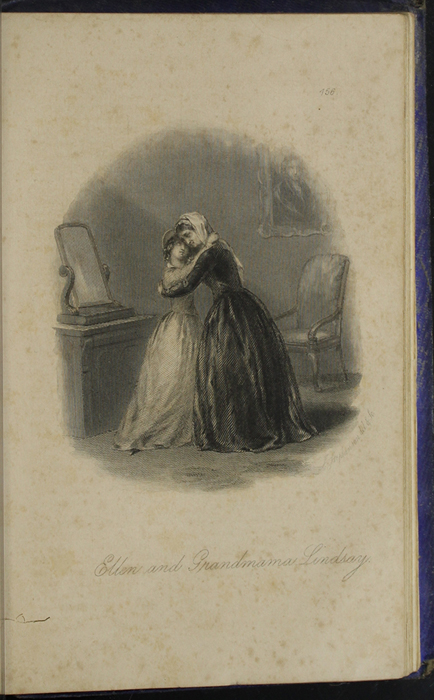 Illustration on Page 456B of the 1853 H. G. Bohn Reprint, Version 1 Depicting Ellen Greeting Grandmother Lindsay with an Embrace