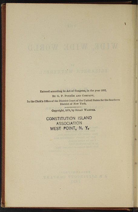"""Copyright Page to the 1891 J. B. Lippincott Co. """"New Edition"""" Reprint"""