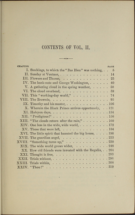 "Table of Contents of Volume 2 of the 1891 J. B. Lippincott Co. ""New Edition"" Reprint"